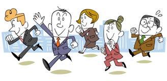 L'immagine di un gruppo corrente di affari illustrazione vettoriale