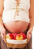 L'immagine di una donna incinta. Fotografia Stock Libera da Diritti