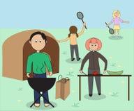L'immagine di una famiglia sulla vacanza Immagini Stock Libere da Diritti