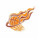L'immagine di una palla di pallacanestro illustrazione vettoriale