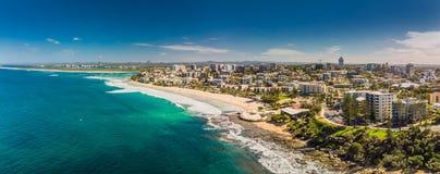 L'immagine panoramica aerea delle onde di oceano sull're tira, Caloundr Fotografia Stock Libera da Diritti
