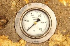 Termometro di forno Fotografie Stock