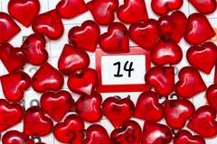 L'immagine sul tema del giorno del ` s del biglietto di S. Valentino, il 14 febbraio Fotografia Stock Libera da Diritti