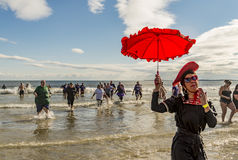 L'immersione annuale della immersione dell'aragosta Immagine Stock Libera da Diritti