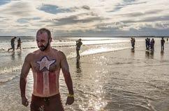 L'immersione annuale della immersione dell'aragosta Fotografia Stock