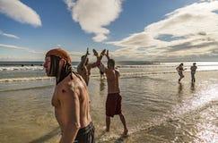 L'immersione annuale della immersione dell'aragosta Fotografie Stock