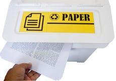 L'immondizia ricicla il recipiente Fotografie Stock