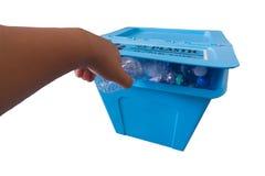 L'immondizia ricicla il recipiente Fotografia Stock