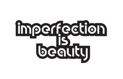 L'imperfection de caractères gras est typograph de inspiration des textes de citations de beauté illustration de vecteur