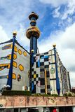 L'impianto di incenerimento di Spittelau a Vienna, Austria Fotografie Stock