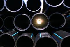 L'impianto idraulico convoglia la fabbrica dell'industria dei tubi fotografia stock