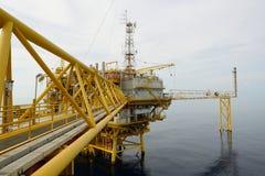 L'impianto offshore offshore Immagini Stock Libere da Diritti