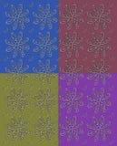 L'impression de fleur dans l'automne colore deux Image stock
