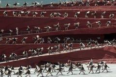 L'impressione Lijiang è ballo tradizionale in Cina. Immagine Stock Libera da Diritti