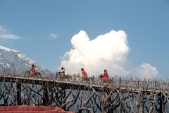 L'impressione Lijiang è ballo tradizionale in Cina. Fotografia Stock