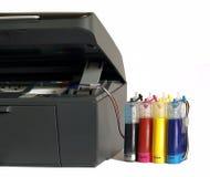 L'imprimante et le système de l'alimentation de l'encre Photographie stock libre de droits
