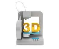 L'imprimante moderne de la maison 3d font l'objet Photographie stock libre de droits