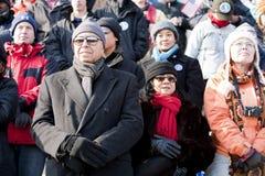 L'inauguration présidentielle de Barack Obama Images libres de droits