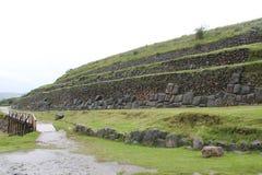L'Inca ruine le mur d'entrée de Sacsayhuaman image stock
