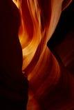 L'incandescenza all'estremità di un canyon della scanalatura Immagini Stock