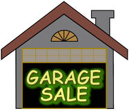 L'incandescenza di vendita di garage sceglie Immagine Stock Libera da Diritti