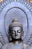 L'incandescenza dorata di stile dell'indiano di buddismo Fotografia Stock