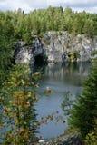 L'incanto del canyon di marmo in Russia Fotografia Stock Libera da Diritti