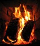 L'incendie dans le poêle Photo libre de droits