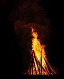 l'incendie de fond flambe le grand dos orange Image stock