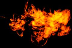 L'incendie flambe le fond Photo stock