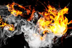 L'incendie flambe le fond Images stock