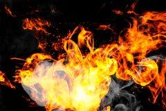 L'incendie flambe le fond Photos libres de droits