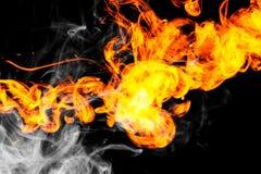 L'incendie flambe le fond Photos stock