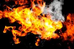 L'incendie flambe le fond images libres de droits