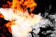 L'incendie flambe le fond Photographie stock