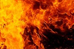 L'incendie flambe le fond Effet original de flamme et de graphique Images libres de droits