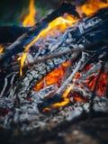 L'incendie mourant Photos libres de droits