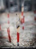 L'incenso attacca la combustione Fotografia Stock Libera da Diritti