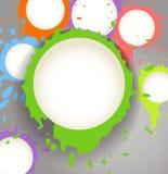 L'inchiostro di colore macchia le nuvole di discorso Immagine Stock Libera da Diritti