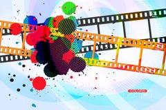 L'inchiostro di colori di lerciume schizza sul film Fotografia Stock Libera da Diritti