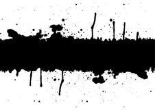 L'inchiostro nero astratto schizza l'elemento del fondo con uno spazio illu Immagini Stock Libere da Diritti