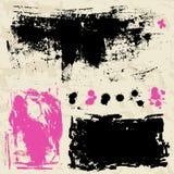 L'inchiostro schizza. Raccolta degli elementi di progettazione di lerciume. Fotografia Stock Libera da Diritti