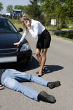 L'incident de route Photo stock