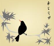 L'incisione giapponese illustrazione di stock