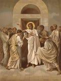 L'incrédulité de l'apôtre Thomas illustration libre de droits