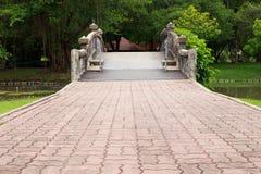 L'incrocio del ponte il fiume Fotografie Stock