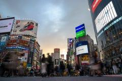 L'incrocio di Shibuya è uno degli attraversamenti più occupati nel mondo Fotografie Stock Libere da Diritti