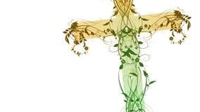 L'incrocio floreale verde fatto con la smussatura ed imprime l'effetto royalty illustrazione gratis