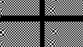 L'incrocio nero sulla base in bianco e nero con il rigonfiamento di effetto royalty illustrazione gratis