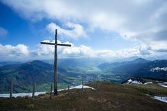 L'incrocio a Rigi Kulm della Svizzera Fotografia Stock Libera da Diritti